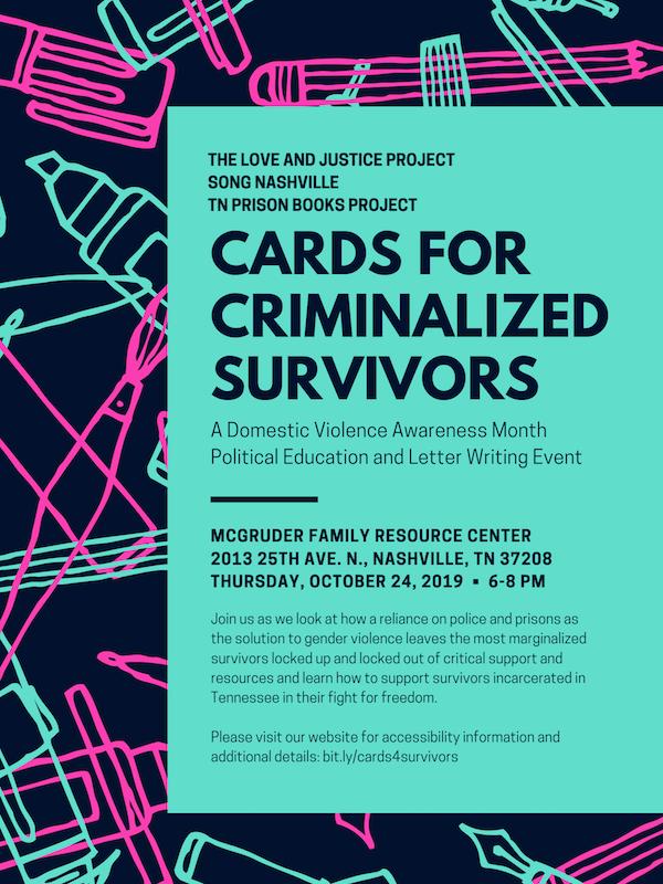 Cards for Criminalized Survivors Event Poster copy